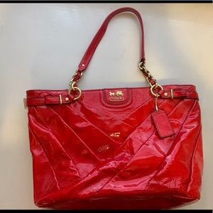 Coach Hot Pink Patent Leather Purse